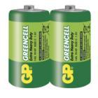 Baterie GP Greencell 1,5V C 2ks Baterie, zinko-chloridová, 2 ks, fólie