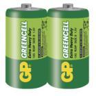 Baterie GP Greencell 1,5V D 2ks Baterie, zinko-chloridová, 2 ks, fólie