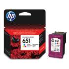 Inkoustová náplň HP 651 (C2P11AE) 3 barvy Inkoustová náplň, originální, pro HP DeskJet 5575, OfficeJet 202, 252, tříbarevná