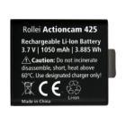 Baterie Rollei pro kamery AC 425 WiFi Baterie, náhradní, pro kamery Rollei AC 425 WiFi, 430