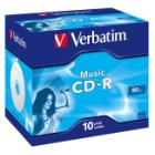 CD médium Verbatim CD-R80 700MB AUDIO 10ks CD médium, 700MB, AUDIO, 16x, 80min, jewel, 10pack