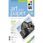 "COLORWAY fotopapír/ ART matte texture ""strip"" 220g/m2, A4/ 10 kusů"