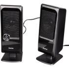 Reproduktory Hama Sonic Mobil 140 Reproduktory, k notebooku a PC, 2.0, 2 W, USB, černé
