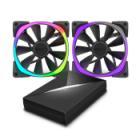NZXT ventilátor Aer RGB Series / RF-AR140-C1 / 140 mm / 22 – 33 dBA / 4-pin / set: 2x FAN + řídící p