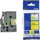 BROTHER extrémně přilnavá páska TZE-S651/ žlutá-černá/ 24mm