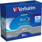 Blu-Ray médium Verbatim BD-R 25GB 5 ks Blu-Ray médium, 25 GB, 6X, BAL WORM, Jewel, 5pack