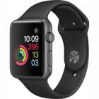 Chytré hodinky Apple Watch Series 1 42mm šedočerné Chytré hodinky, 42 mm, vesmírně šedé hliníkové pouzdro, černý sportovní řemínek
