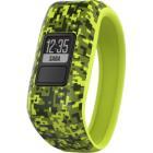 Fitness náramek Garmin vívofit junior Camo Fitness náramek, monitorovací, pro děti, voděodolný, zelený