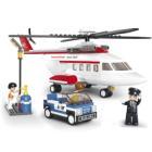 Stavebnice Sluban Vrtulník Stavebnice, 259 dílků, kompatibilní s LEGO