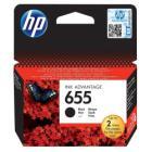 Inkoustová náplň HP 655 (CZ109AE) černá Inkoustová náplň, originální, pro HP Deskjet Ink Advantage 3525, 4615, 4625, 5525, 6525, černá
