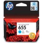 Inkoustová náplň HP 655 (CZ110AE) modrá Inkoustová náplň, originální, pro HP Deskjet Ink Advantage 3525, 4615, 4625, 5525, 6525, modrá