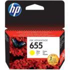 Inkoustová náplň HP 655 (CZ112AE) žlutá Inkoustová náplň, originální, pro HP Deskjet Ink Advantage 3525, 4615, 4625, 5525, 6525, žlutá