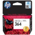 Inkoustová náplň HP 364 (CB317EE) foto černá Inkoustová náplň, originální, pro HP Photosmart Plus, Premium, Premium Fax, B8550, D5460, C5380, C6380, foto černá