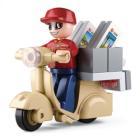 Stavebnice Sluban Kurýr Stavebnice, 28 dílků, kompatibilní s LEGO