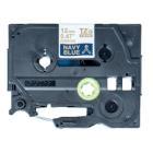 Páska Brother TZE-RN34 zlatá-nám.modř.pruhy 12mm Páska, zlatá-nám. modř. pruhovaná, 12 mm