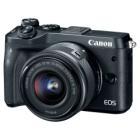 Digitální fotoaparát Canon EOS M6 + EF-M 15-45  Digitální fotoaparát, kompaktní, 24,2 MPx, černý + EF-M 15-45 IS STM