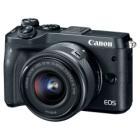 Digitální fotoaparát Canon EOS M6 + EF-M 55-200 Digitální fotoaparát, kompaktní, 24,2 MPx, černý + EF-M 15-45 IS STM + EF-M 55-200