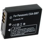 Baterie TRX pro Panasonic 1400 mAh Baterie, pro fotoaparát, 1400 mAh, Li-Ion, pro Panasonic Lumix DMC-TZ1, DMC-TZ4S, kompatibilní s baterií CGA-S007
