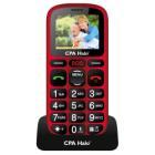 """Mobilní telefon CPA Halo 16 červený Mobilní telefon, pro seniory, 1,77"""" barevný displej, SOS tlačítko, vestavěná svítilna, FM rádio, červený"""