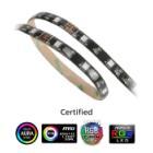 LED pásek Akasa Vegas MB multicolor LED pásek, 15 x LED, 10 x magnet, 12 V, 50 cm, 4-pin, multicolor