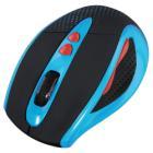 HAMA myš Knallbunt 2.0/ bezdrátová/ optická/ 2000 dpi/ 7 tlačítek/ modrá