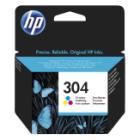 Inkoustová náplň HP 304 (N9K05AE) CMY Inkoustová náplň, originální, pro HP DeskJet 2620, 2630, 2ml, 100 stran, CMY