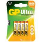 Baterie GP AAA alkalické 4ks  Baterie, alkalické, 1,5V, 24AU, LR03 4ks blistr