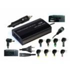Napájecí adaptér Eurocase 100W Napájecí adaptér, od 12V, 9 koncovek (včetně koncovky do auta)