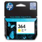Inkoustová náplň HP 364 (CB320EE) žlutá Inkoustová náplň, originální, pro HP Photosmart Plus, Premium, Premium Fax, B8550, D5460, C5380, C6380, žlutá