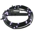 LED pásek NZXT CB-LED20-WT bílý LED pásek, bílý, opletený, do PCI slotu, napájení molex, 3 stupně intenzity, 2m