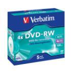 DVD médium Verbatim DVD-RW 4,7GB 5 ks DVD médium, DVD-RW, 4,7GB, 4x, DLP, Jewel, 5-pack