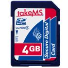 Paměťová karta TakeMS SDHC 4 GB Paměťová karta, SDHC, class 4, 5 let záruka