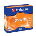 DVD médium Verbatim DVD-R 4,7GB 5 ks DVD médium, DVD-R, 4,7GB, 16x, jewel, 5-pack
