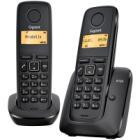 Bezdrátový telefon Siemens GIGASET A120-DUO černý Bezdrátový telefon, DECT/GAP, bezdrátový, +1 ks přídavné sluchátko, černý