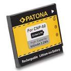 Baterie PATONA kompatibilní s Casio NP-60 Baterie, pro fotoaparát, 600mAh, Li-Ion