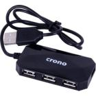 USB Hub Crono U1318 USB Hub, externí, 4x USB 2.0, černý