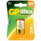Baterie GP 9V Ultra Baterie, Alkalická, 9V, Ultra 1 ks