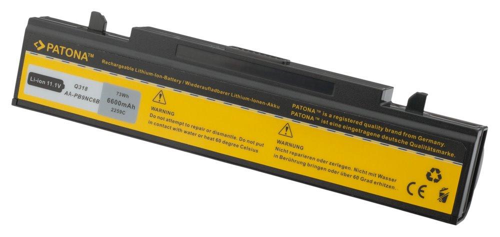 Baterie PATONA pro Samsung 6600 mAh Baterie, 6600 mAh, pro notebooky Samsung NP, M, P, Q, R, X, neoriginální PT2259