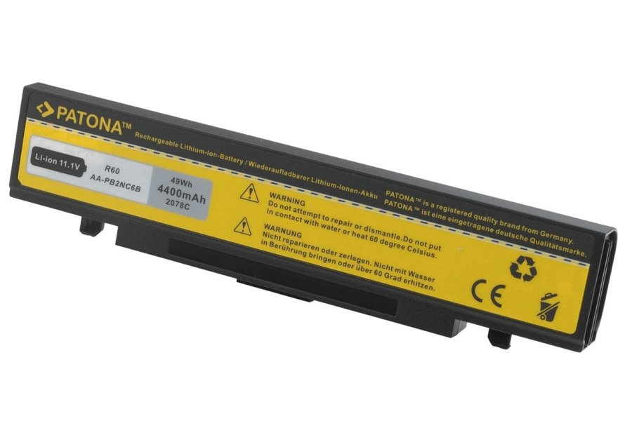 Baterie PATONA pro Samsung 4800 mAh Baterie, 4800 mAh, pro notebooky Samsung M, N, P, Q, R, X, neoriginální PT2078
