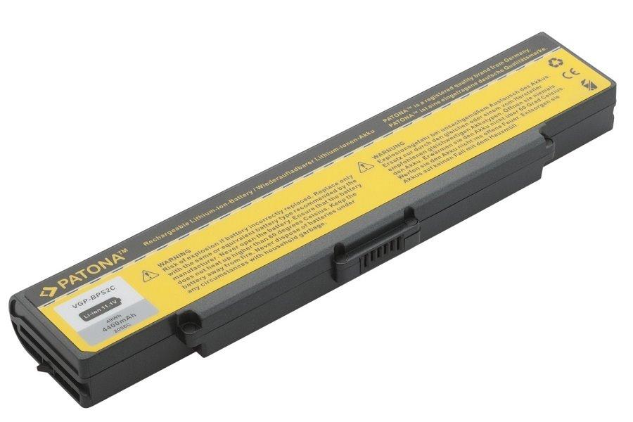 Baterie PATONA pro SONY 4400 mAh Baterie, 4400 mAh, pro notebooky SONY VAIO PCG, VGC, VGN, neoriginální PT2058