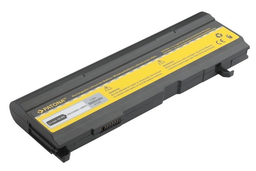 Baterie PATONA pro TOSHIBA 6600 mAh Baterie, 6600 mAh, pro notebooky TOSHIBA Satellite A, M, Pro A, Pro M, Tecra A, S, DynaBook CX, TX, VX, neoriginální PT2114