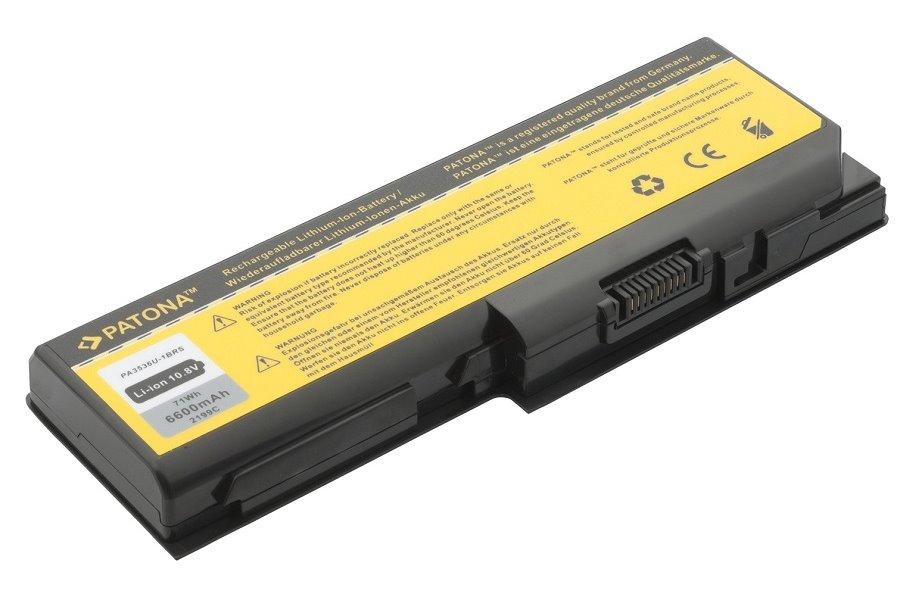 Baterie PATONA pro TOSHIBA 6600 mAh Baterie, 6600 mAh, pro notebooky TOSHIBA Satellite L, P, Pro, X, Equium P, L, neoriginální PT2199