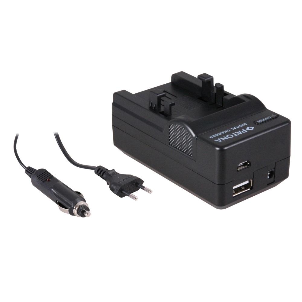 Nabíječka PATONA 4v1 kompatibilní s Canon NB1L Nabíječka, pro fotoaparát, 4v1, Canon NB1L, NB1LH, 230V, 12V PT5501