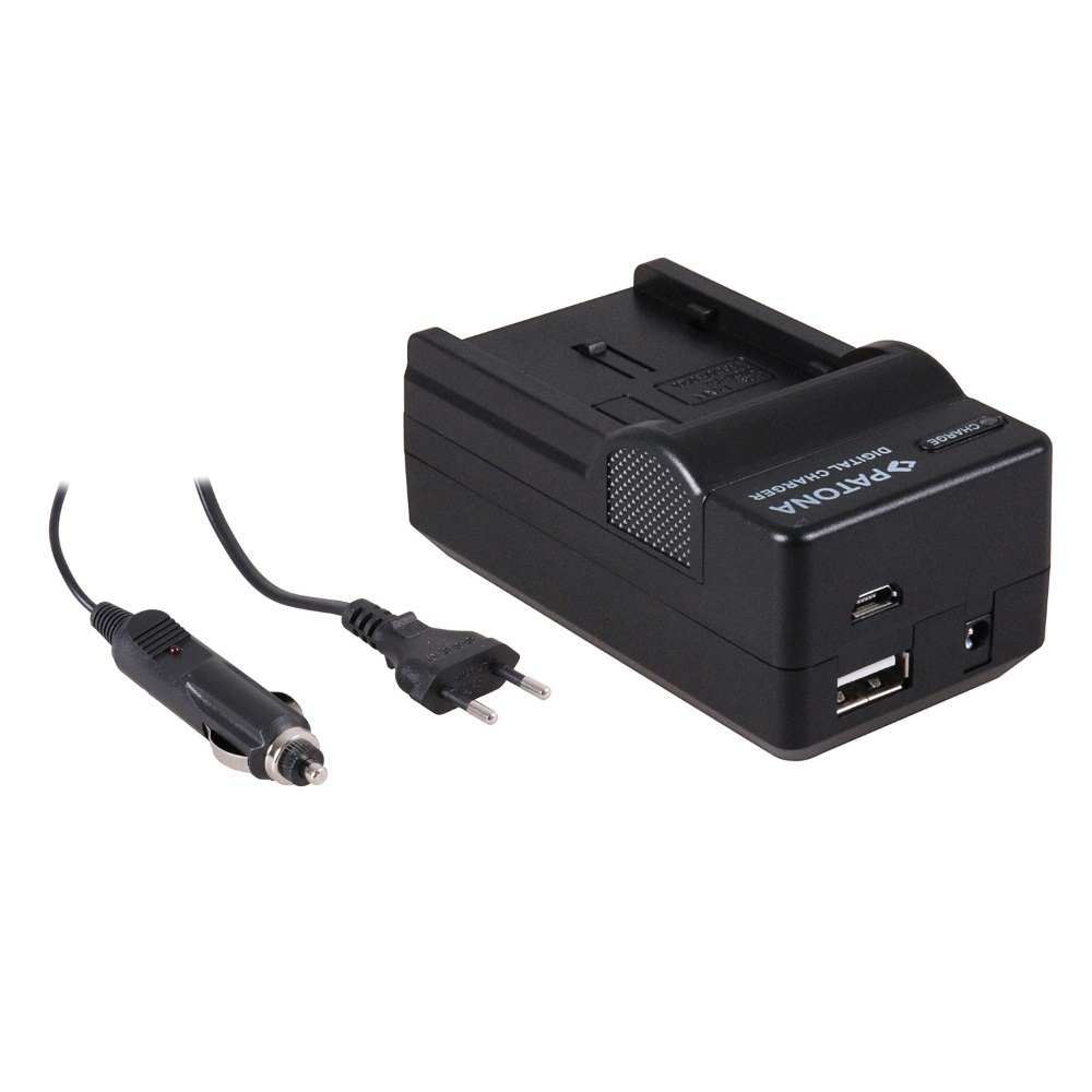 Nabíječka PATONA 4v1 kompatibilní s Panasonic DU07 Nabíječka, pro videokameru, 4v1, Panasonic DU07, DU14, 230V, 12V PT5603