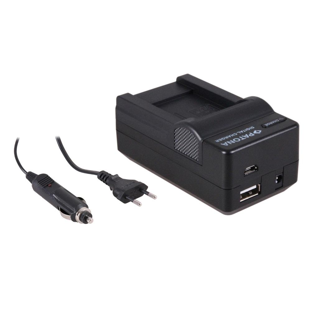 Nabíječka PATONA 4v1 kompatibilní s Olympus D-LI88 Nabíječka, pro fotoaparát, 4v1, Olympus D-LI88, DBL-80, 230V, 12V PT5606