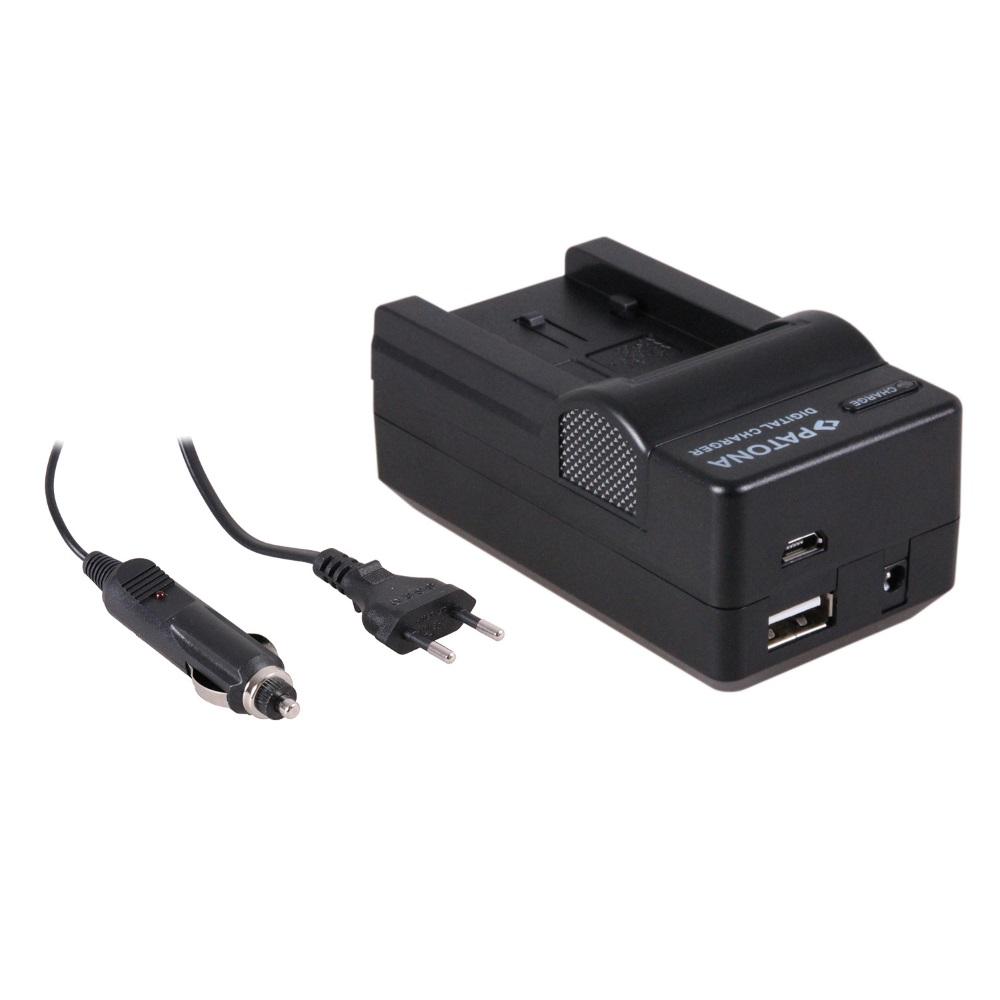 Nabíječka PATONA kompatibilní Panasonic VW-VBK180 Nabíječka, pro videokameru, 4v1, Panasonic VW-VBK180, 230V, 12V PT5618