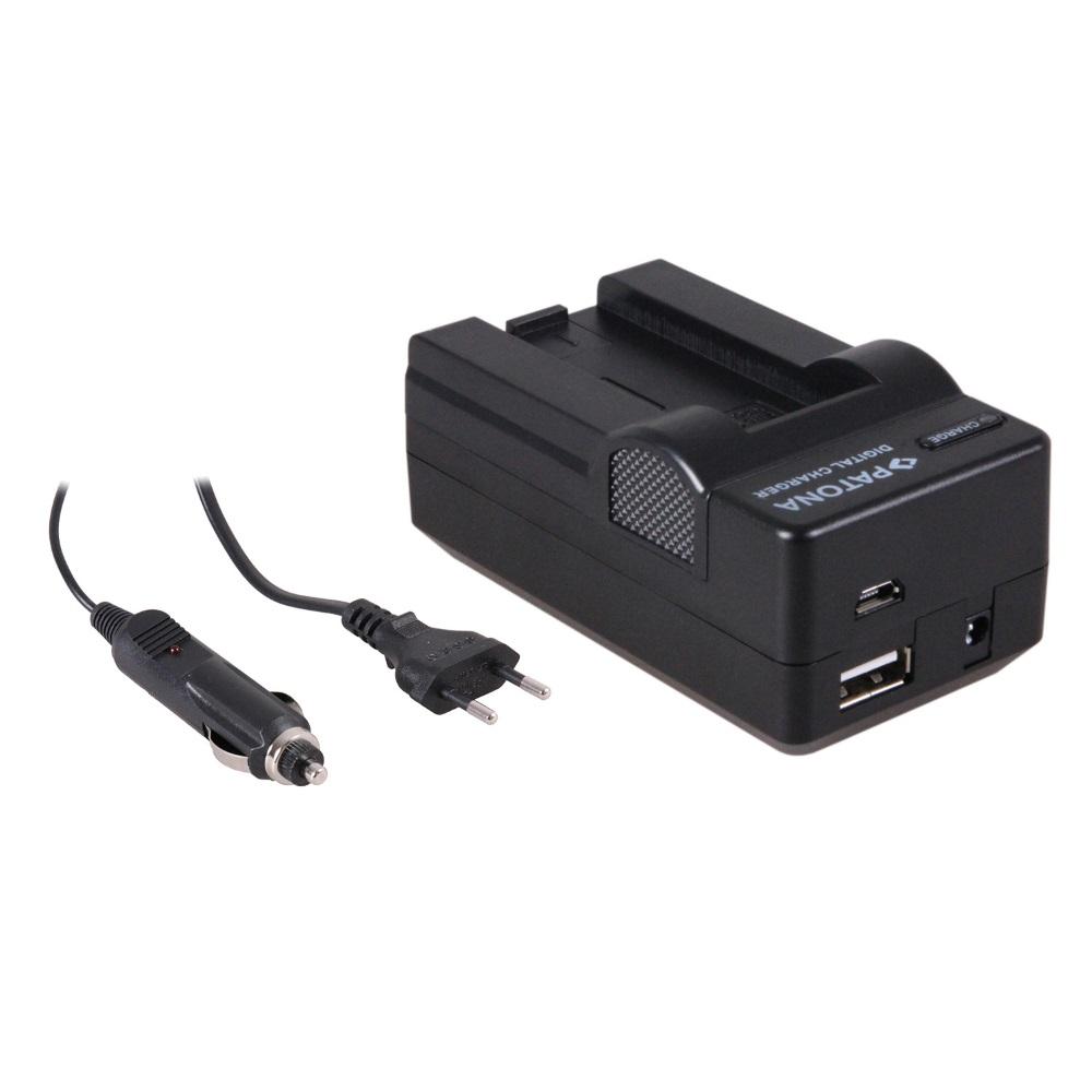 Nabíječka PATONA 4v1 kompatibilní s Casio NP50 Nabíječka, pro fotoaparát, 4v1, Casio NP50, 230V, 12V PT5628
