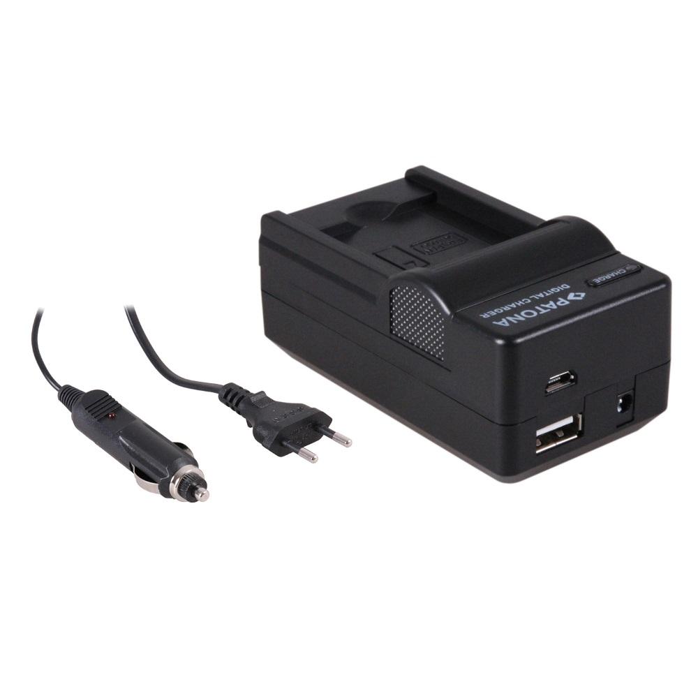 Nabíječka PATONA 4v1 kompatibilní s Panasonic BCk7 Nabíječka, pro fotoaparát, 4v1, Panasonic BCk7, 230V, 12V PT5630