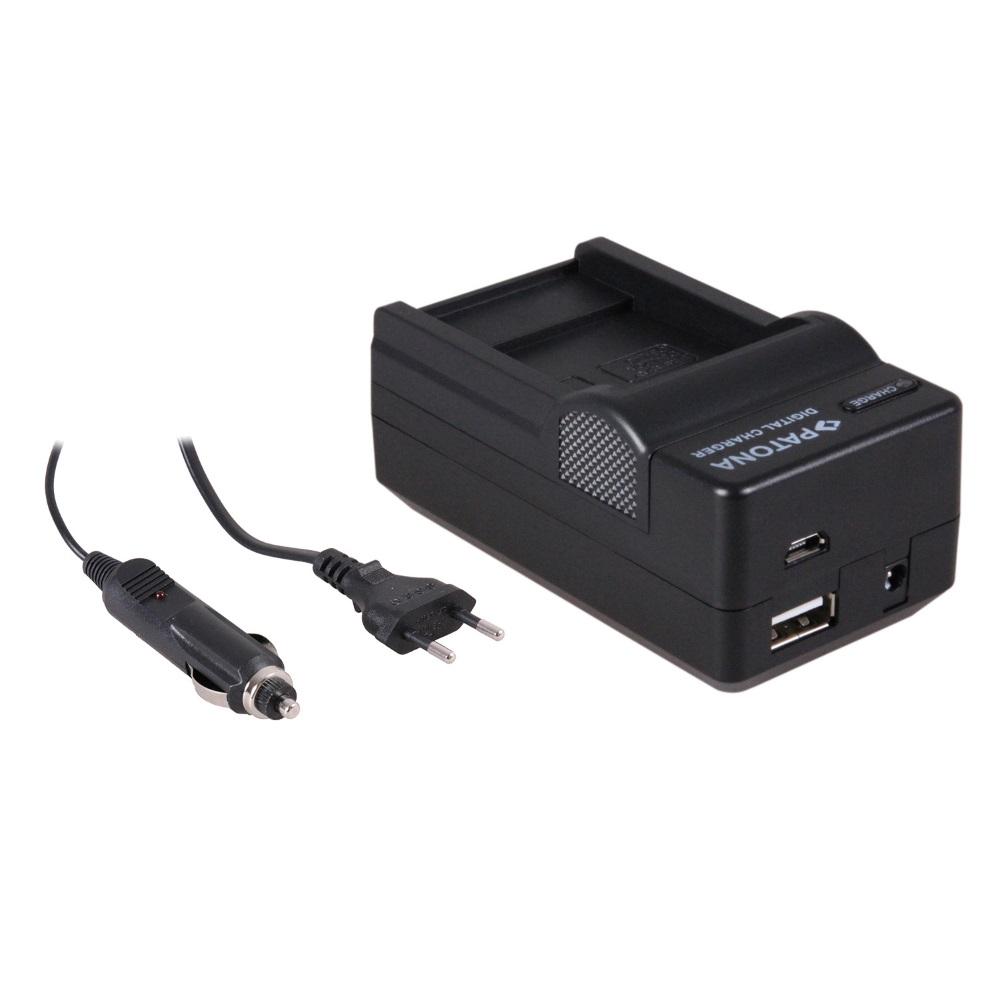 Nabíječka PATONA 4v1 kompatibilní s Sanyo DB-L40A Nabíječka, pro videokameru, 4v1, Sanyo DB-L40A, L20A, 230V, 12V PT5641