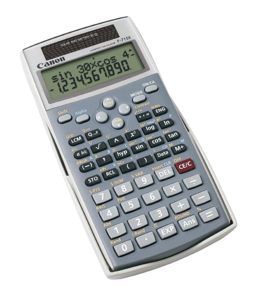 Kalkulačka Canon F-715s Kalkulačka, 250 vědeckých a statistických funkcí, 2 řádkový displej 1688B001